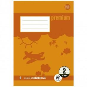 STAUFEN Premium Schulblock A5 LIN 2 gelocht 50 Blatt