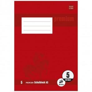 STAUFEN Premium Schulblock A5 LIN 5 gelocht 50 Blatt