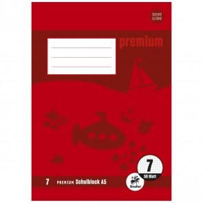 STAUFEN Premium Schulblock A5 LIN 7 gelocht 50 Blatt