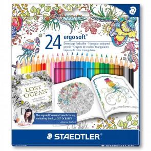 STAEDTLER Farbstift ergosoft 157C24 24 Farben im Johanna Basford Etui