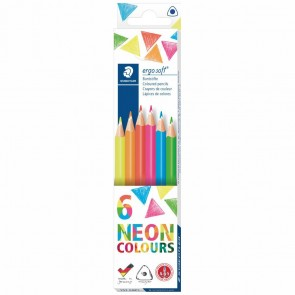 STAEDTLER Farbstift ergosoft 157 C6P1 NEON Farben 6 Stück