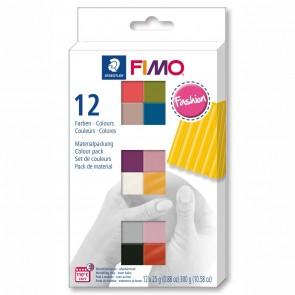 STAEDTLER Modelliermasse Fimo soft 12 x 25g Sparpack 12 Farben FASHION