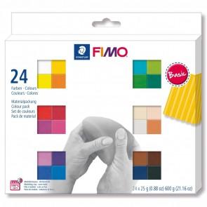 STAEDTLER Modelliermasse Fimo soft 24 x 25g Sparpack BASIC 24 Farben