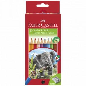 FABER CASTELL Farbstift JUMBO 10 Stück + Spitzer GRATIS