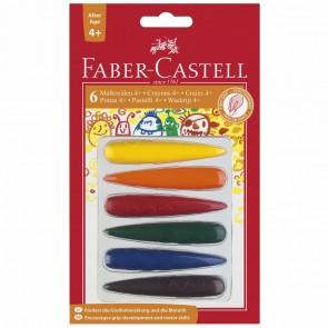 FABER CASTELL Malkreide / Wachsmalkreide 6 Faben