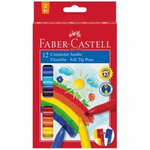 FABER CASTELL Fasermaler CONNECTOR Pen Jumbo 12 Farben