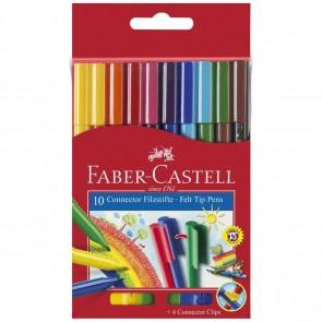 FABER CASTELL Fasermaler CONNECTOR Pen 10 Farben