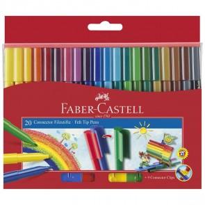FABER CASTELL Fasermaler CONNECTOR Pen 20 Farben