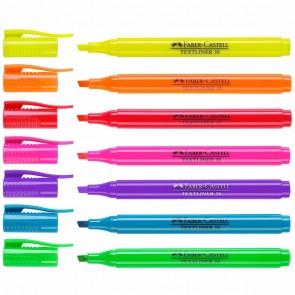 FABER CASTELL Textmarker Textliner 1577 1-3,8mm 7 verschiedene Farben im Set