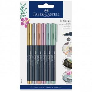 FABER CASTELL Permanentmarker metallic 1,5mm 6 Farben Set