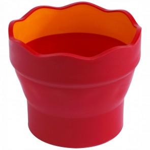 FABER CASTELL Wasserbecher CLIC & GO rot / orange