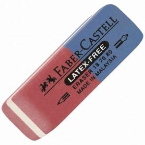 FABER CASTELL Radiergummi LATEX-FREE 7070-80 rot / blau