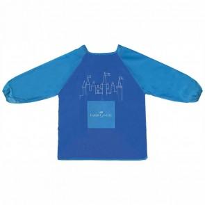 FABER CASTELL Malschürze für Kinder 6-10 Jahre blau