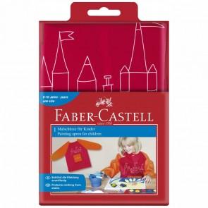 FABER CASTELL Malschürze für Kinder 6-10 Jahre rot/orange