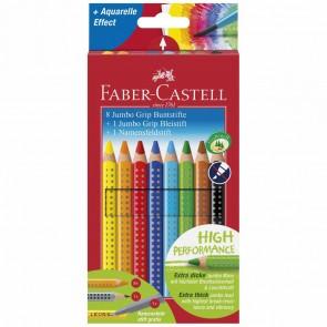 FABER CASTELL Farbstift JUMBO GRIP Promoetui 8+1+1 GRATIS