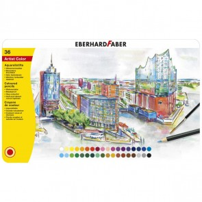 EBERHARD FABER Farbstifte Artist Color Aquarell 36 Stück im Metalletui