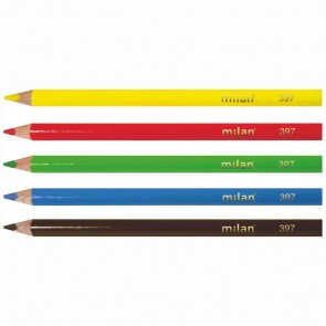 MILAN Farbstift 397 Jumbo dreikant im Pappetui 12 Farben