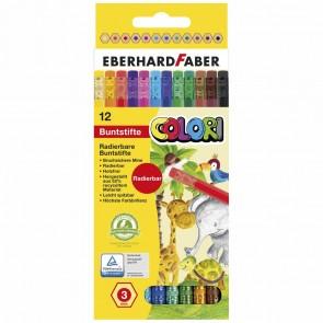 EBERHARD FABER Farbstift Colori radierbar 12 Stück