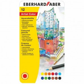 EBERHARD FABER Farbstifte Artist Color Aquarell 12 Stück im Metalletui