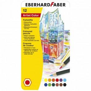 EBERHARD FABER Farbstifte Artist Color wasserfest 12 Stück im Metalletui
