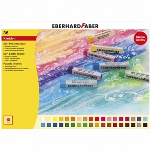 EBERHARD FABER Soft Pastellkreiden 36 Farben im Kartonetui