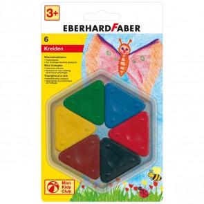 EBERHARD FABER Wachsmalsteine dreieckig 6 Farben