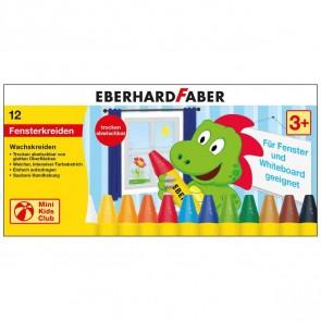EBERHARD FARBER Wachsmalkreide für Fenster 12 Farben im Etui