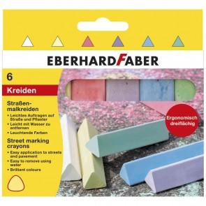 EBERHARD FABER dreikant Straßenmalkreide 6er Euti