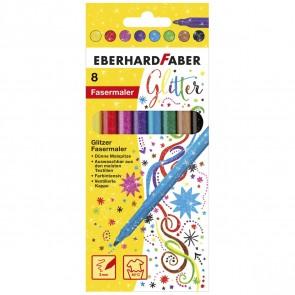 EBERHARD FABER Fasermaler metallic / glitter 8 Stück ca. 3mm