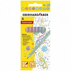 EBERHARD FABER Fasermaler pastell glitter metallic 8 Stück
