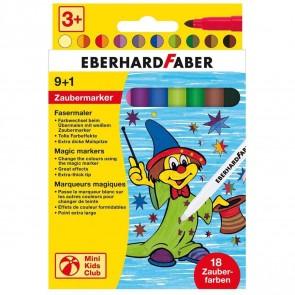 EBERHARD FABER Fasermaler Zauber-Marker 9+1 Stifte = 18 Farben