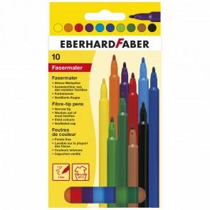 EBERHARD FABER Fasermaler dünn 1,0mm 10 Farben im Etui