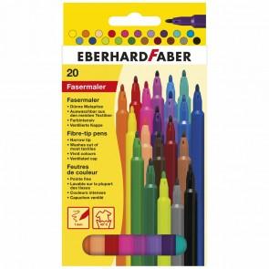 EBERHARD FABER Fasermaler dünn 1,0mm 20 Farben im Etui