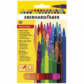 EBERHARD FABER Fasermaler dünn 1,0mm 30 Farben im Etui