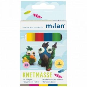 MILAN Plastilin Knetmasse 6 Farben