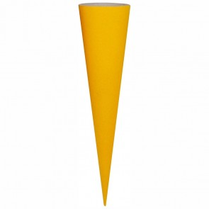 GOLDBUCH Schultüten Rohling 70cm ohne Filz gelb