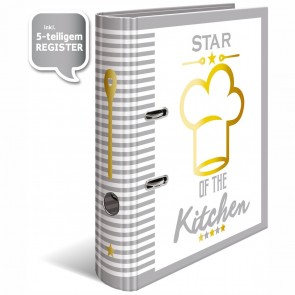 HERMA Rezeptordner DIN A4 mit Register -Star of the Kitchen-