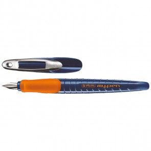 HERLITZ Füllhalter my.pen M dunkelblau / orange