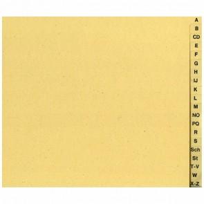 HERLITZ Register 5962519 1/2 A4 A-Z 20tlg Papier halbe Höhe chamois