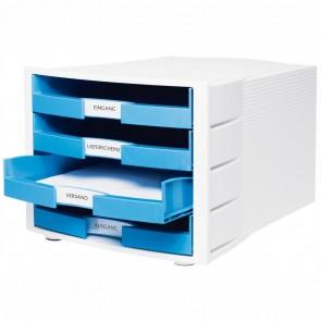 HAN Schubladenbox A4 1011-X IMPULS Trend Color weiß / hellblau