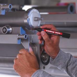 EDDING Permanentmarker 300 Industrie rot 1,5-3mm