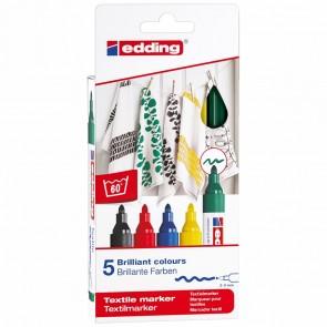 EDDING Textilmarker 4500 2-3mm 5 Stück Set -Grundfarben-