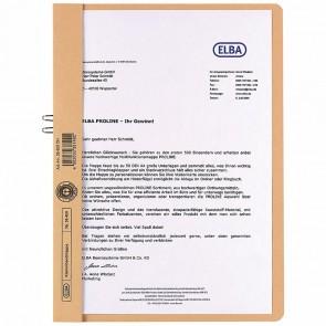 ELBA Klemmhandmappe 36450 ohne Vorderdeckel chamois RC-Karton