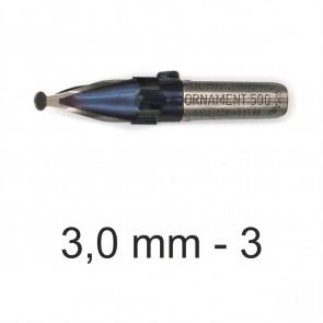 BRAUSE Ornament Zeichenfeder 3,0mm