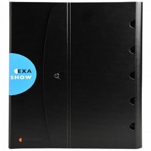 EXACOMPTA Präsentationsringuch / Tisch Flip-Chart ExaShow 56034E A4 4-Ring schwarz