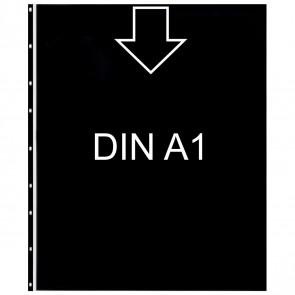 EXACOMPTA Prospekthülle 56934E DIN A1 0,15mm glasklar mit schwarzem Innenblatt