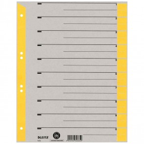 LEITZ Trennblätter 1652 A4 230g Tab gelb 100 Stück
