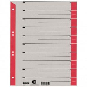 LEITZ Trennblätter 1652 A4 230g Tab rot 100 Stück
