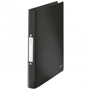 LEITZ Ringbuch Solid 456610 A4 PP 25mm 2-Ring schwarz