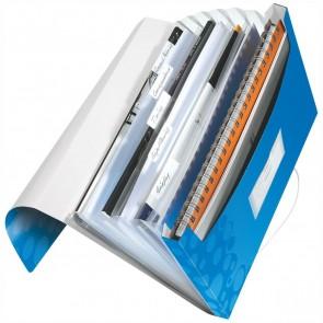 LEITZ Fächermappe 4589 WOW A4 PP 6 Fächer blau metallic